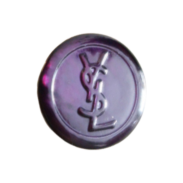 【VINTAGE SAINTLAURENT BUTTON】パープル YSL ロゴ ボタン 20mm Y-20002
