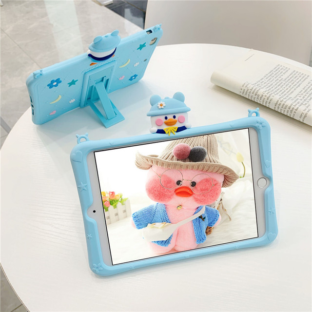 Blue duck iPad case