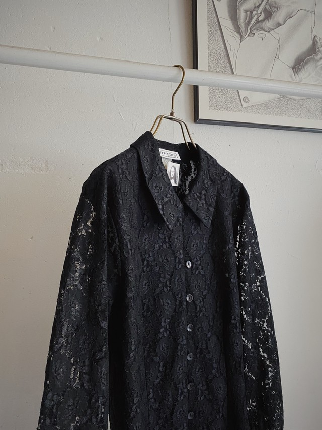 made in USA vintage lace blouse