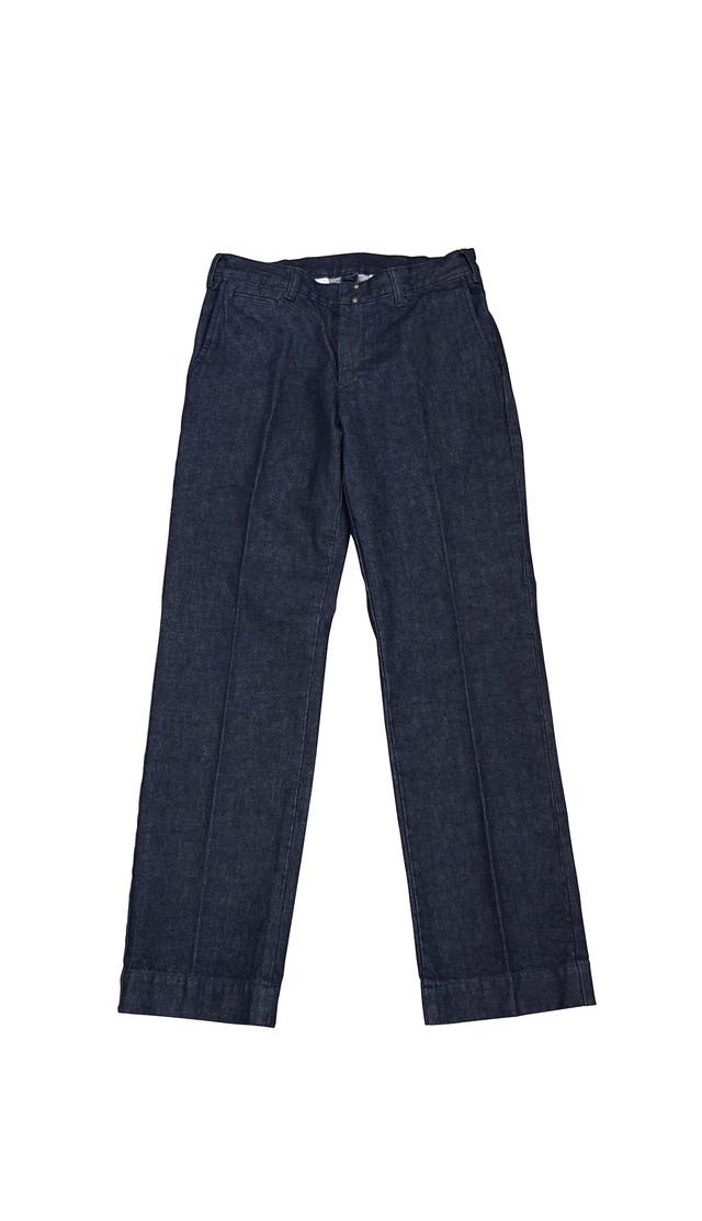 DENIM SLACKS PANTS (INDIGO / 1WASH)