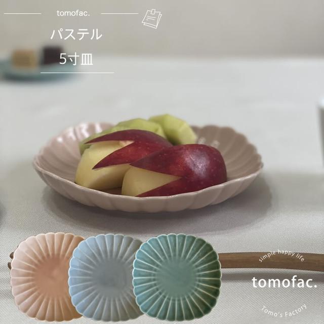 波佐見焼 パステル 5寸皿 【tomofac】
