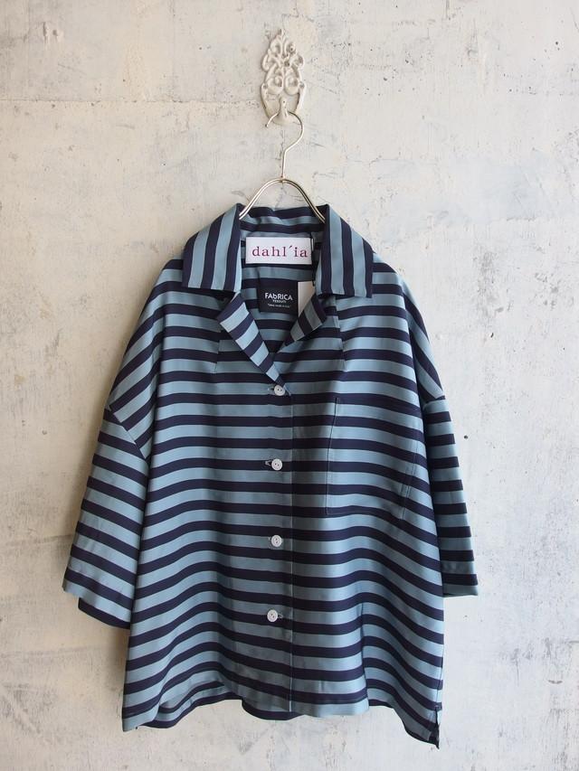 ボーダーデザインシャツジャケット【Dahl'ia DBL-296PD】