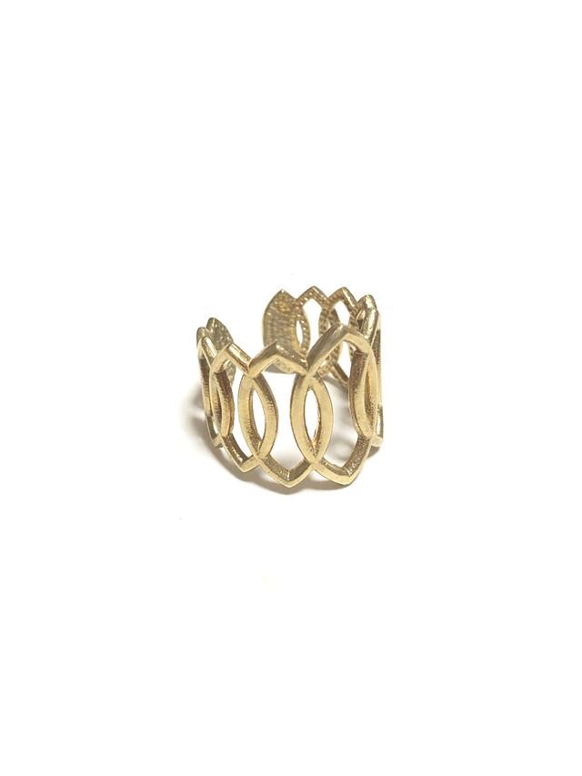 【TAMARI】Raw brass continual ring