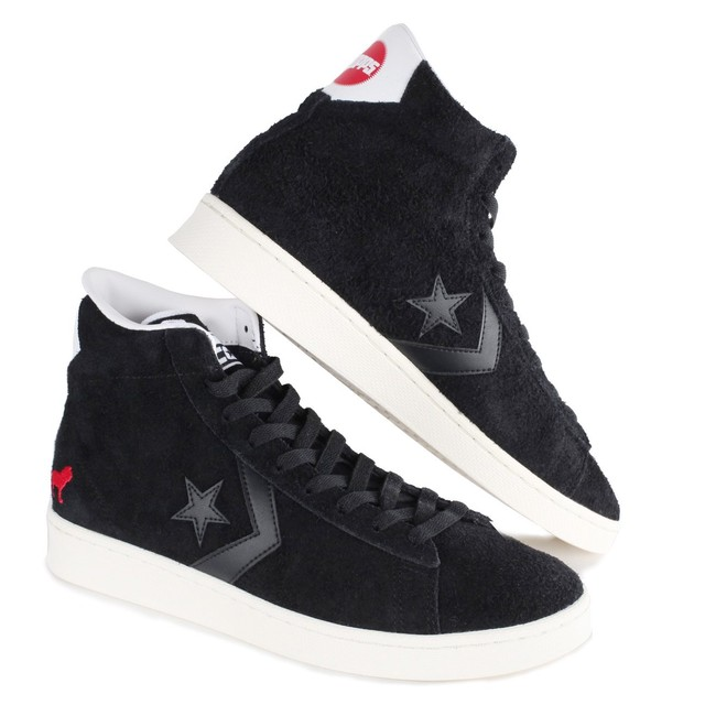 HOPPS 【CONVERSE CONS X HOPPS PRO LEATHER MID BLACK/WHITE/EGRET】