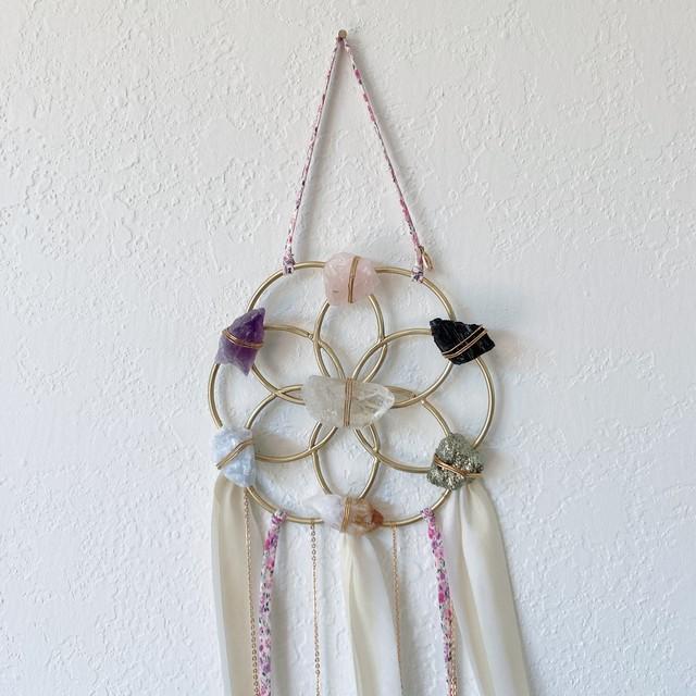 Flower Of Life - Crystal Healing Grid - Dreamcatcher Ariana Ost クリスタルグリッド フラワーオブライフ ドリームキャッチャー