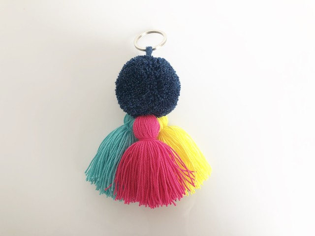 Wayuu New Pom and Tassel Keyring no.1