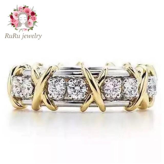 s925 luxury cross gold(ring)