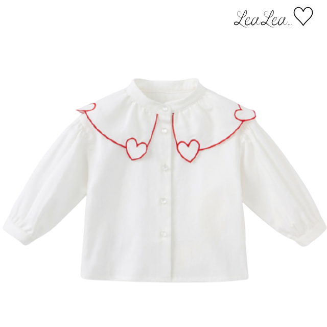 dave&bella2021AW新作♡ハート襟デザインブラウス(73cm-130cm)| LeaLea...♡(レアレア)-海外の子供服セレクトショップ