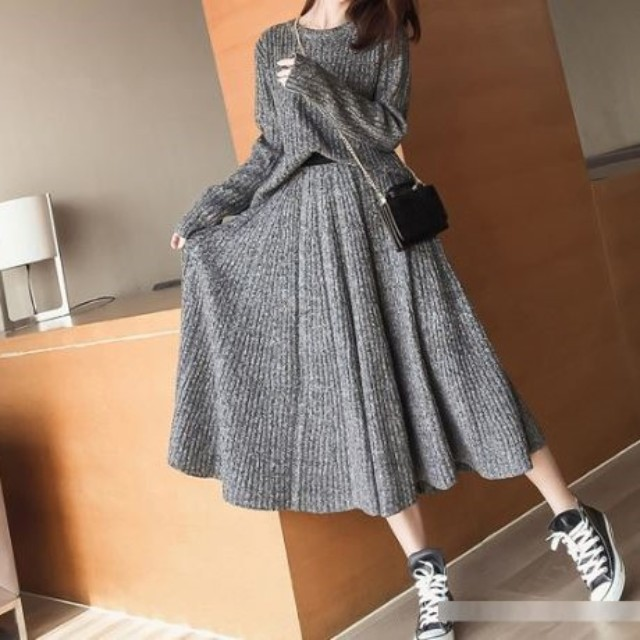Gray setup knit [11186]