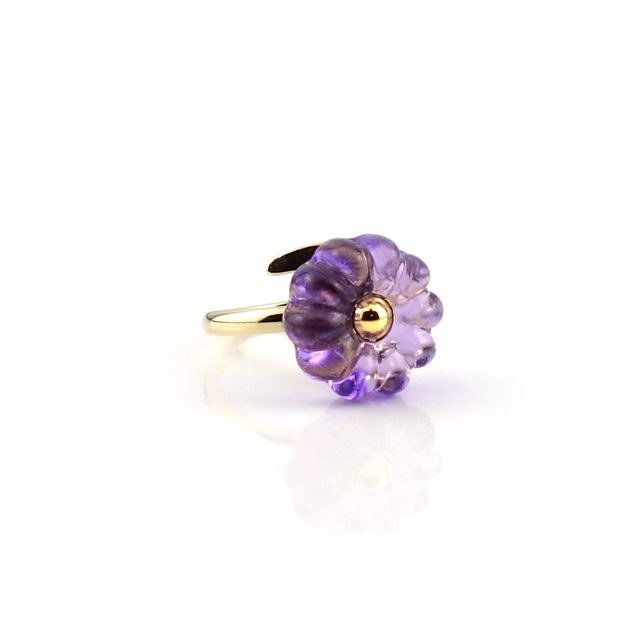 "flower cushion_ring ""purple rain"""