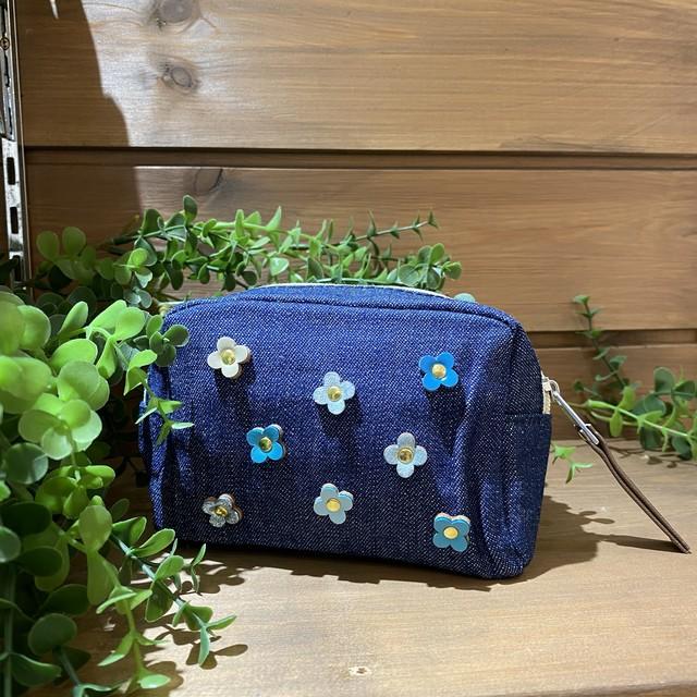 Happy bag charm クローバー/ピンクカラー(ポーチ付き)