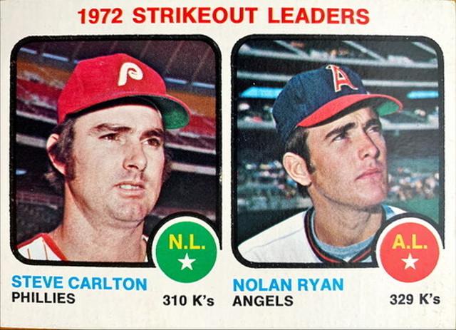 MLBカード 73TOPPS Steve Carlton & Nolan Ryan #067