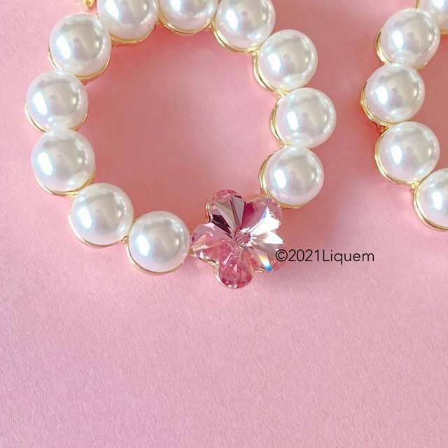 Liquem / ディフォルメフープ・桜ピアス