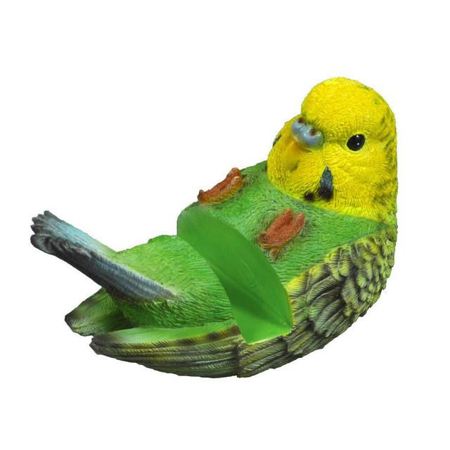 スマホスタンド 寝転びタイプ セキセイインコ 黄色