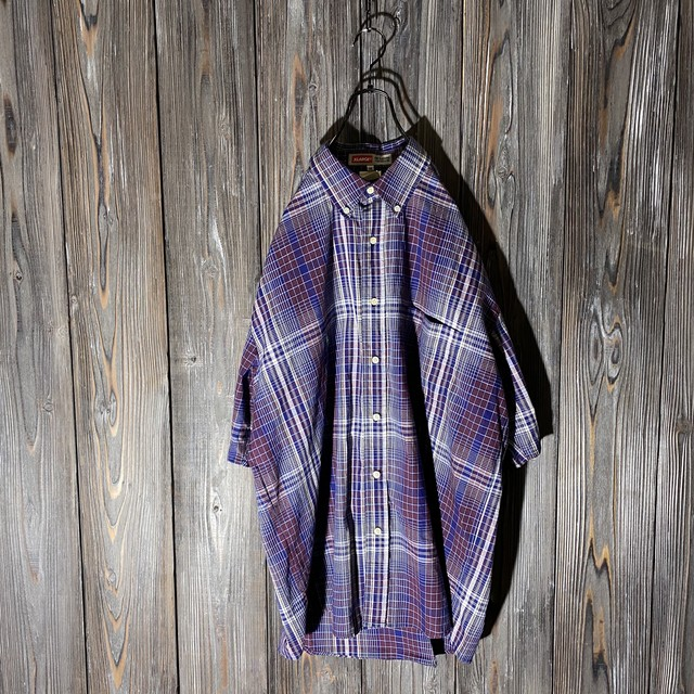 [X LARGE]red and blue check shirt