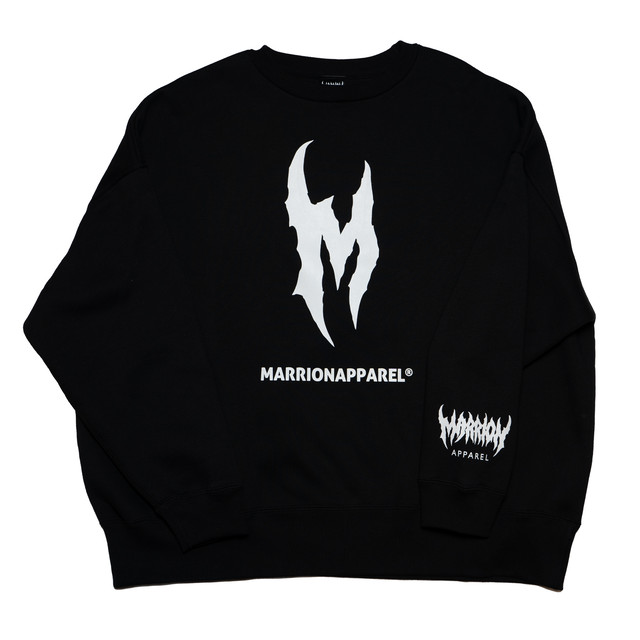 【裏起毛】 Initials M Big Silhouette SWEAT (BLACK)