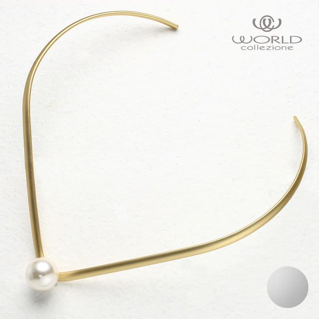 【worcolle】ガラスパールとメタルのチョーカー (No.130323-130324)