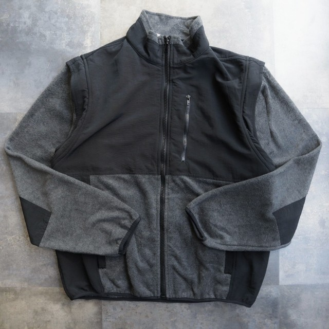 two-tone deformation fleece jacket