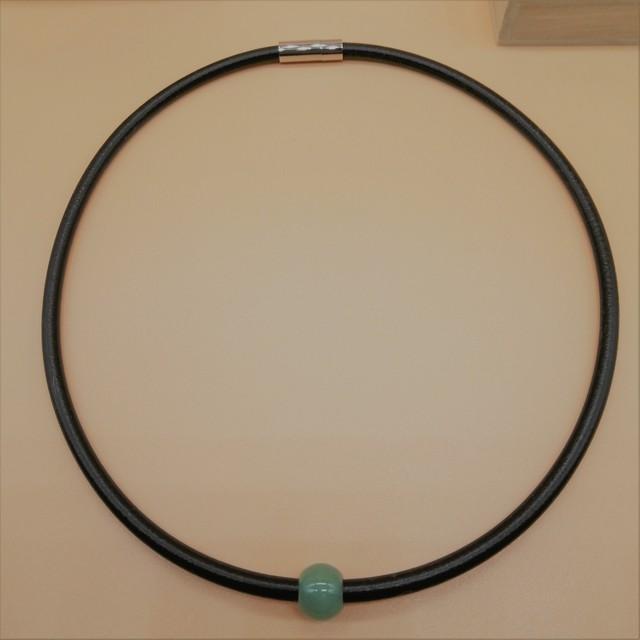 ラジウムネックレス(古代ニギハヤ石含有)+(天然石付)