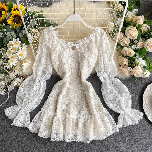 レースワンピース 結婚式ワンピ SHD400101
