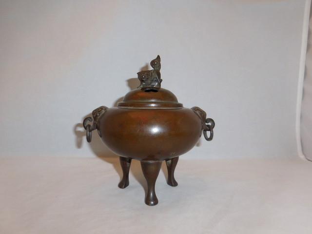 紫銅香炉 copper incense burner(No17)