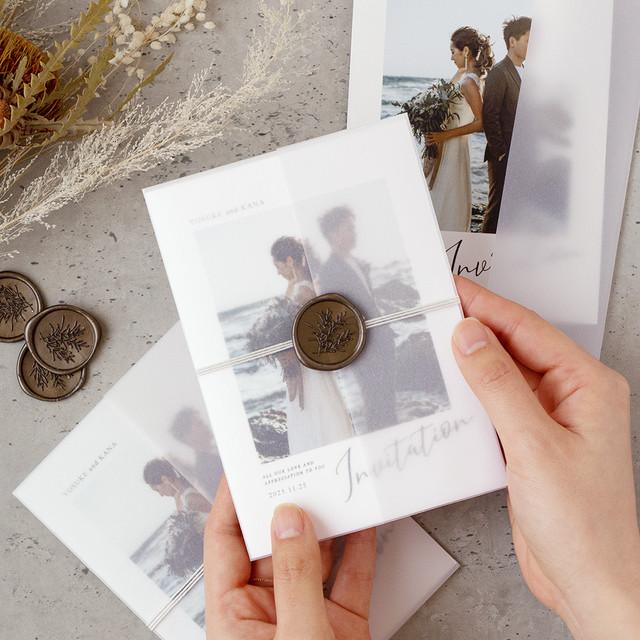 【手作りキット】ines photo招待状-封筒無し / 10枚セット(1セット150円)