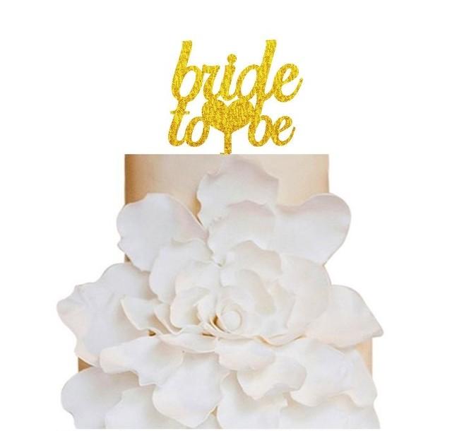 ウェディングケーキトッパー 《 bride to be 》グリッターアクリル T-12