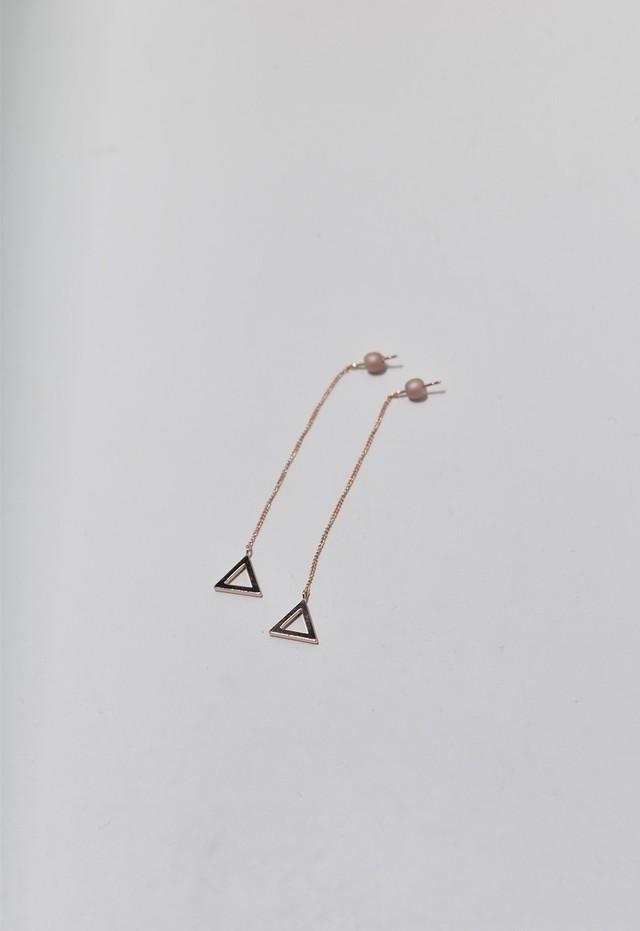 triangle frame pierce Pink Gold/Pink