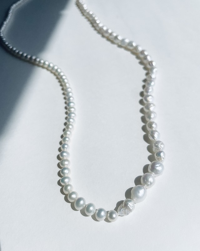 Combination pearls Endless Long Necklace  / 90cm