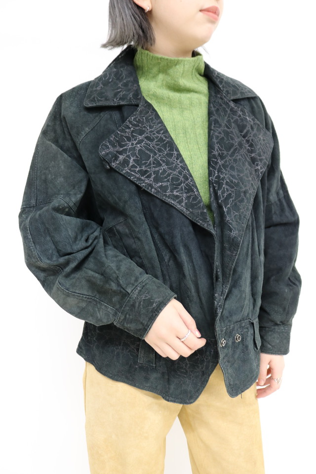 leather rider's jacket / OU11170025