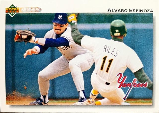 MLBカード 92UPPERDECK Alvaro Espinoza #119 YANKEES