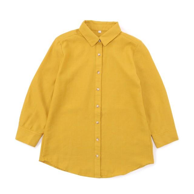 リネンブレンドシャツ (ヤマブキ) 3000030