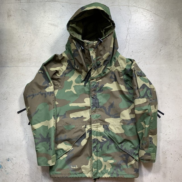 80's U,S.ARMY ECWCS GEN1 ゴアテックスパーカー 前期型 初期 PARKA EXTREAM COLD WEATHER CAMOUFLAGE 迷彩 RAVEN INDUSTRIES SMALL-REGULAR 米軍 希少 ヴィンテージ BA-1398 RM1767H