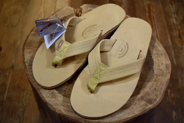 新品 Rainbow Sandals Premier Leather double mid sole S0386