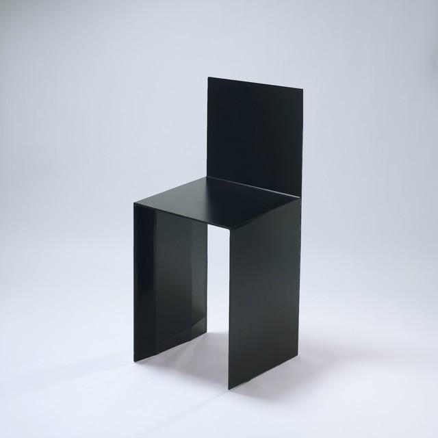 シェーズ・プリエ (黒) -Chaise Pliée (Black)- Seat Height 600mm