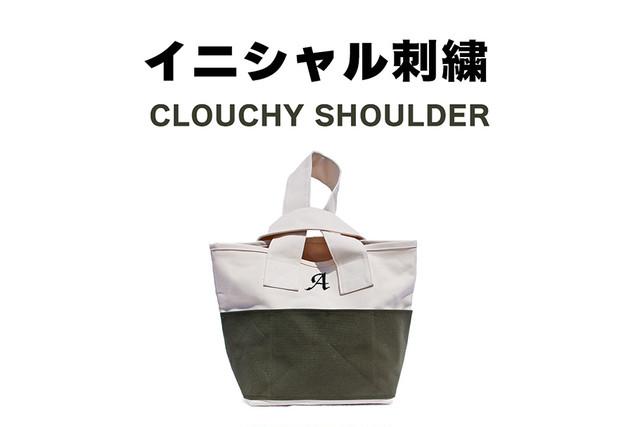 CLOUCHY SHOULDER イニシャル刺繍