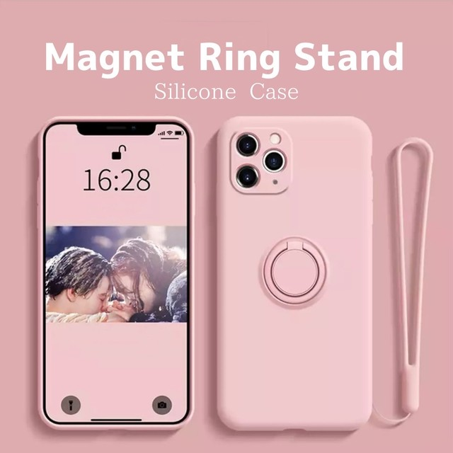 Magnet ring stand iphone case