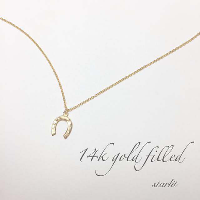 14kgf 》Horseshoe necklace