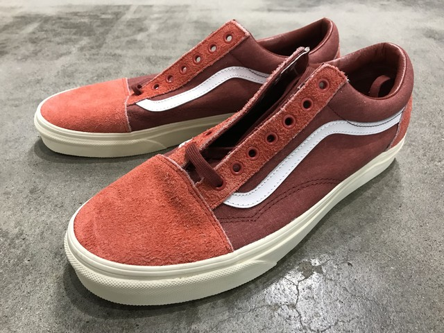 VANS x J.CREW OLD SKOOL (JCREW/WASHED SUEDE/RED)