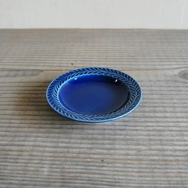 感器工房 波佐見焼 翔芳窯 ローズマリー リムプレート 皿 9.5cm ブルー 333089
