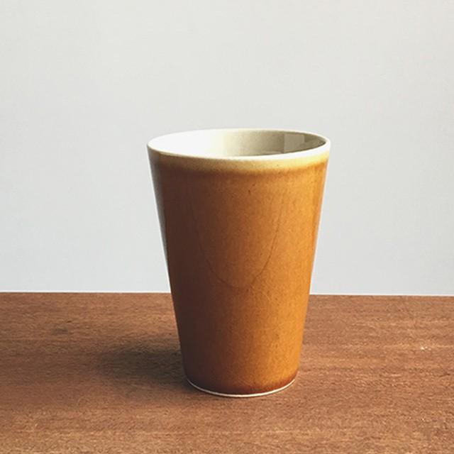 トチギマーケットオリジナル 益子焼フリーカップ 飴釉