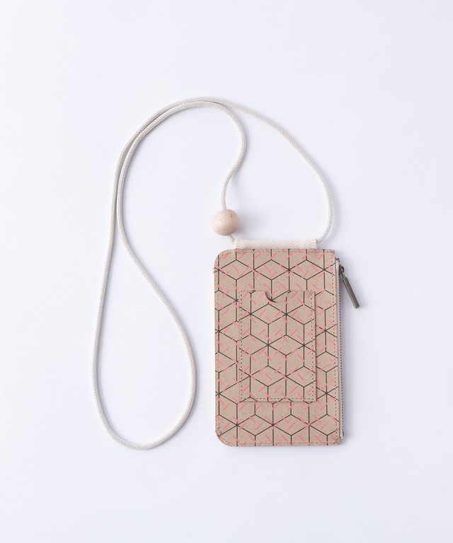 【TRICOTÉ】RECYCLE LEATHER POUCH:ピンク