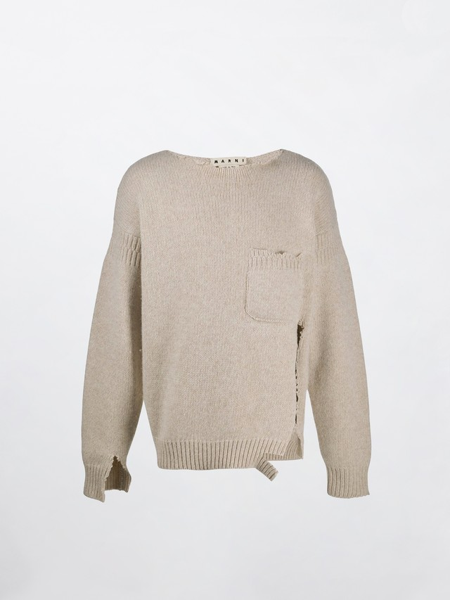 MARNI Demage Knit Off White GCMG0123A0
