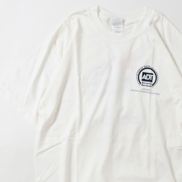 【Lサイズ】 ADT SECURITY SERVICES TEE 半袖Tシャツ WHITE L 400601191072