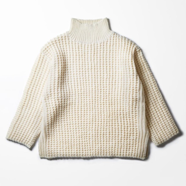 faccies / Waffle Roving Turtle Knit - メイン画像