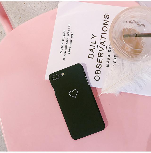 【iPhone SE2/11シリーズ対応】シンプルハートマーク(SPCa0001BK)◆スマホケース/iPhoneケース