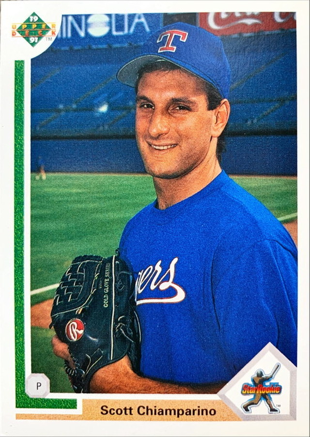 MLBカード 91UPPERDECK Scott Chiamparino #008 RANGERS STAR ROOKIE