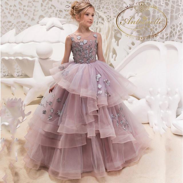 子供ドレス ロングドレス 女の子 ジュニア ピアノ 発表会 パーディー 演奏会 フォーマル 入園式 結婚式 ワンピース フリル チュール