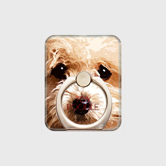 トイプードル おしゃれな犬スマホリング【IMPACT -color- 】
