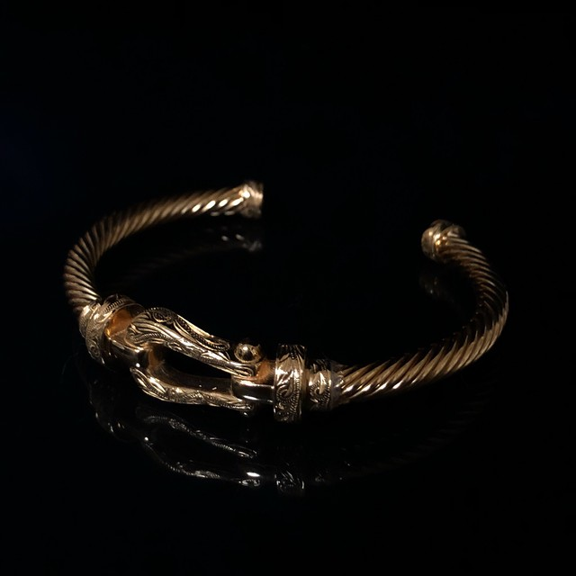 24kgp Hawaiian jewelry bangle(Horseshoe)